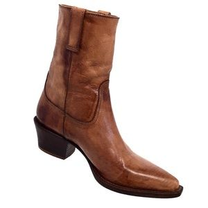 Cole Haan Pointed Leather Western Style Boots